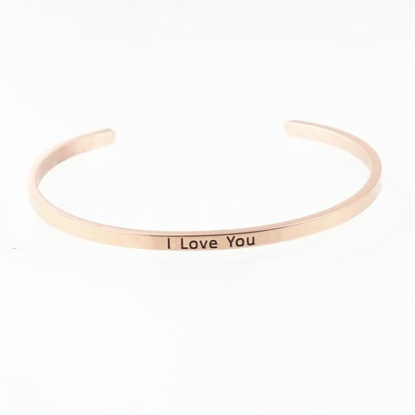 Bracelet Jonc À Message Collection Inspiration - I Love You - Bijoux - La Boutique By C.