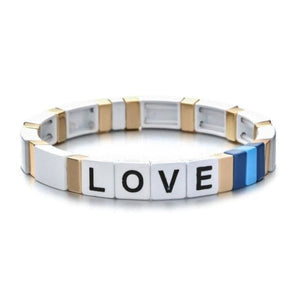 Bracelet LOVE de la COLLECTION ZIGZAG - blanc - bracelets - La boutique by c.