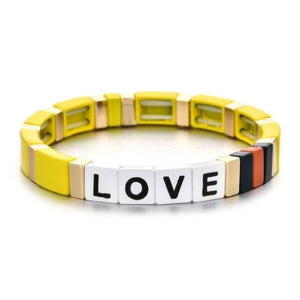 Bracelet LOVE de la COLLECTION ZIGZAG - jaune - bracelets - La boutique by c.