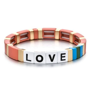 Bracelet LOVE de la COLLECTION ZIGZAG - nude - bracelets - La boutique by c.