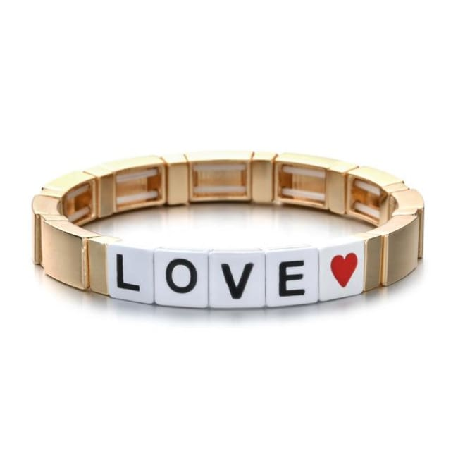 Bracelet LOVE de la COLLECTION ZIGZAG - or - bracelets - La boutique by c.