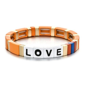 Bracelet LOVE de la COLLECTION ZIGZAG - orange - bracelets - La boutique by c.