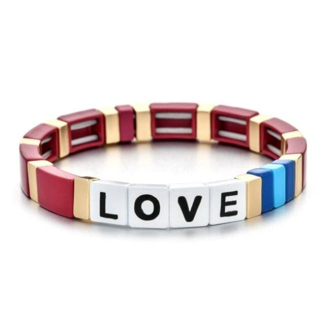 Bracelet LOVE de la COLLECTION ZIGZAG - rouge - bracelets - La boutique by c.