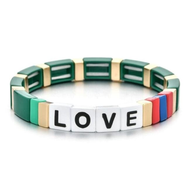 Bracelet LOVE de la COLLECTION ZIGZAG - vert - bracelets - La boutique by c.