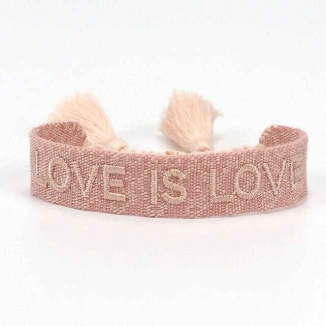 Bracelet LOVE IS LOVE de la COLLETION ANOTHER DAY - ROSE ET ROSE - bracelets - La boutique by c.
