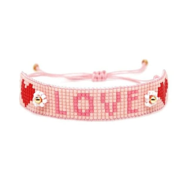 Bracelet LOVELY de la COLLECTION SOLEDAD - Love rose - bracelets - La boutique by c.