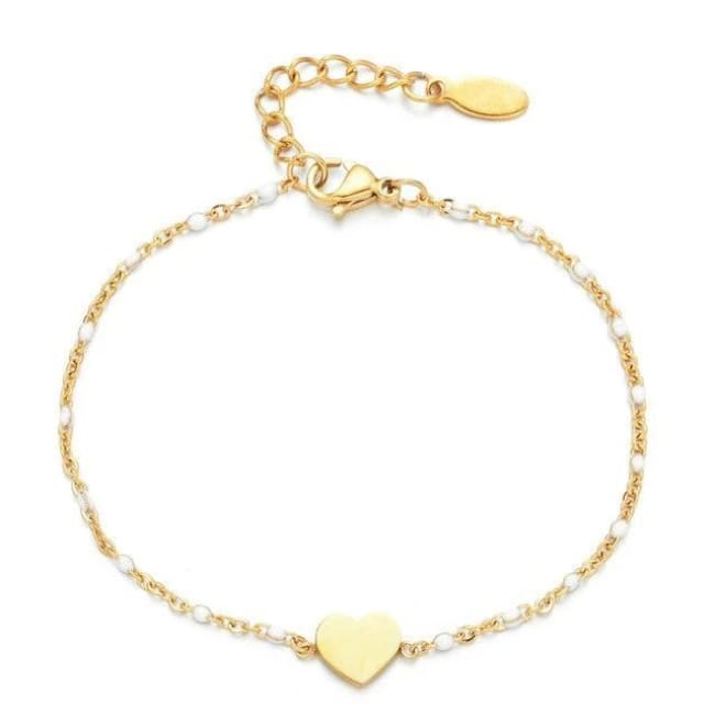Bracelet MINI COEUR de la COLLECTION EVER - blanc - bracelets - La boutique by c.