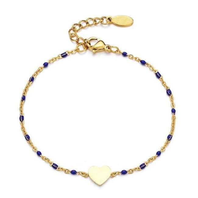Bracelet MINI COEUR de la COLLECTION EVER - bleu foncé - bracelets - La boutique by c.