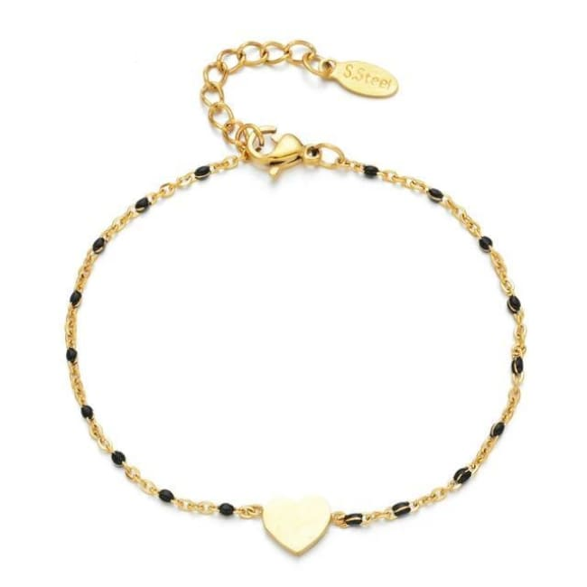 Bracelet MINI COEUR de la COLLECTION EVER - noir - bracelets - La boutique by c.