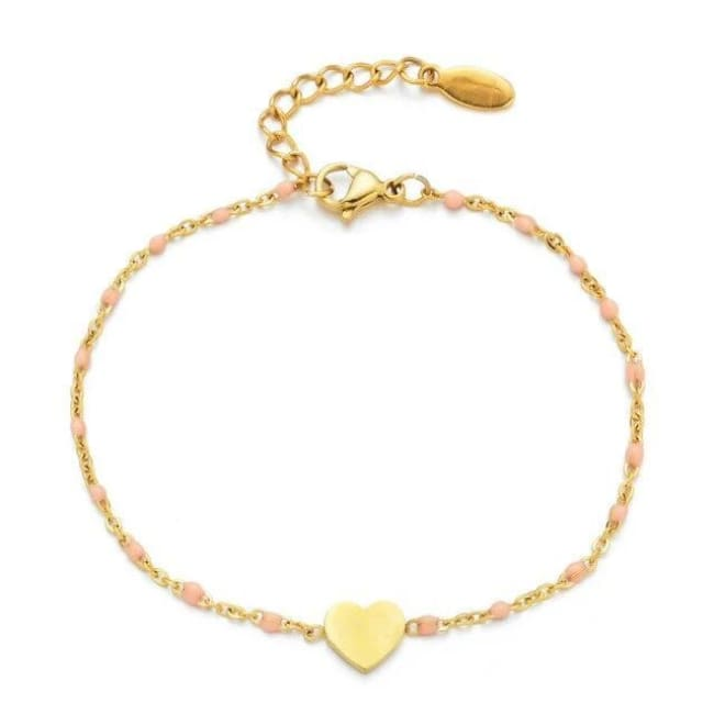 Bracelet MINI COEUR de la COLLECTION EVER - rose clair - bracelets - La boutique by c.