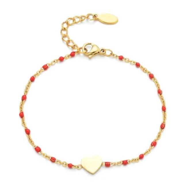 Bracelet MINI COEUR de la COLLECTION EVER - rouge - bracelets - La boutique by c.