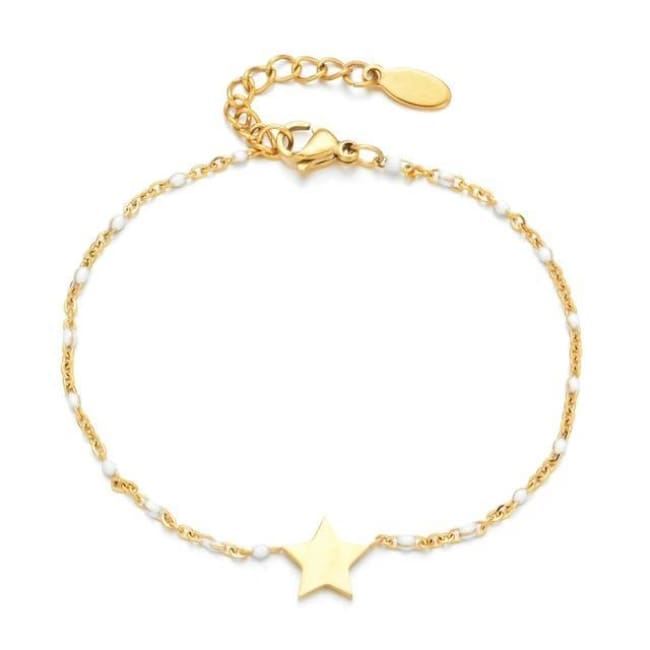 Bracelet MINI ETOILE de la COLLECTION EVER - blanc - bracelets - La boutique by c.