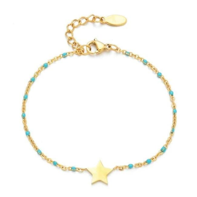 Bracelet MINI ETOILE de la COLLECTION EVER - bleu clair - bracelets - La boutique by c.