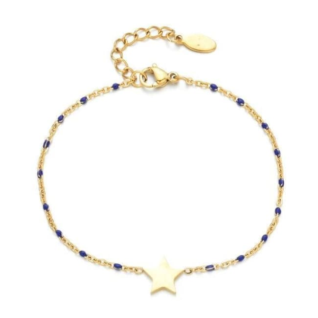 Bracelet MINI ETOILE de la COLLECTION EVER - bleu foncé - bracelets - La boutique by c.