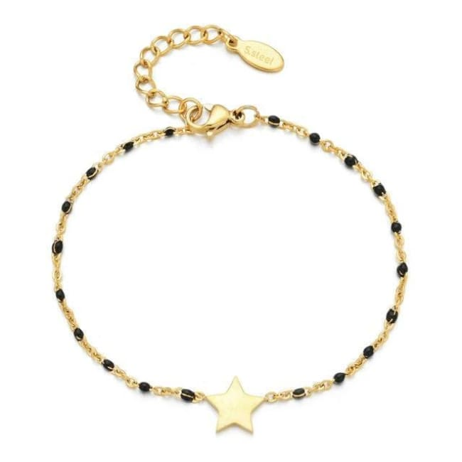Bracelet MINI ETOILE de la COLLECTION EVER - noir - bracelets - La boutique by c.