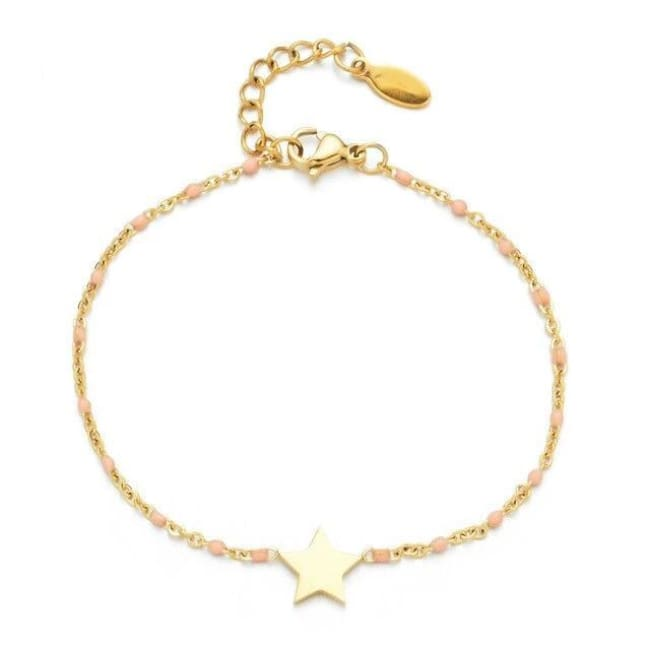 Bracelet MINI ETOILE de la COLLECTION EVER - rose clair - bracelets - La boutique by c.