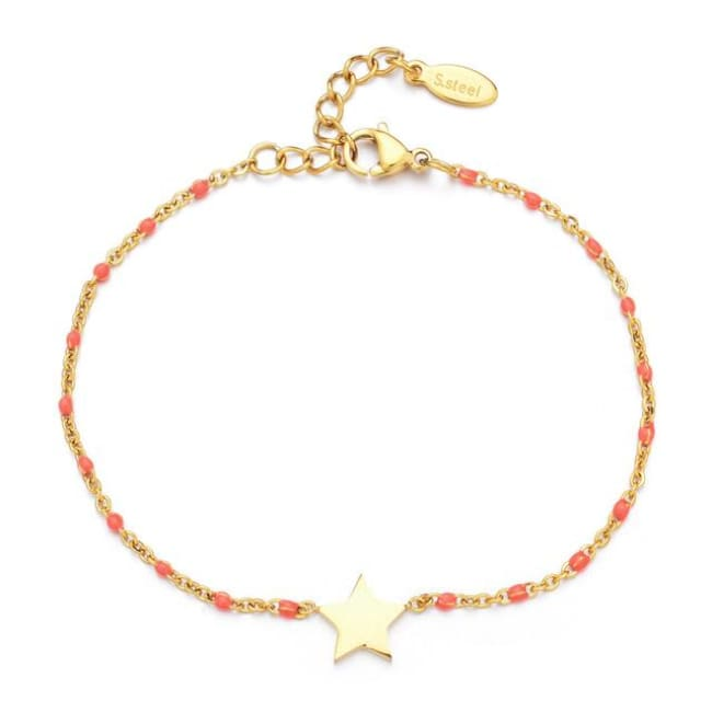 Bracelet MINI ETOILE de la COLLECTION EVER - rose foncé - bracelets - La boutique by c.