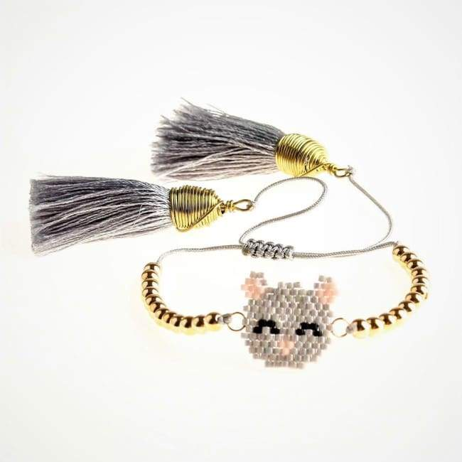 Bracelet CHATON de la COLLECTION SO CUTE - gris - bracelets - La boutique by c.