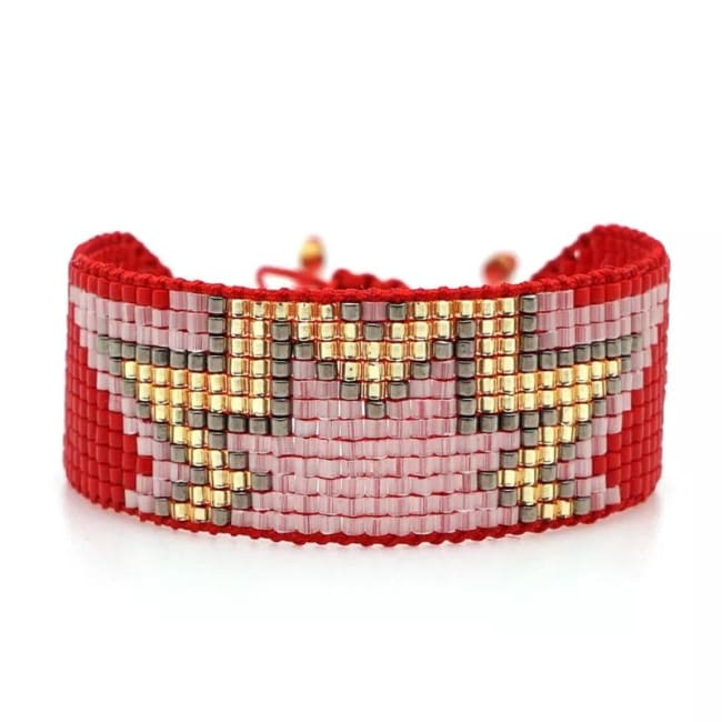 Bracelet STAR de la COLLECTION CAPRICE - rouge - bracelets - La boutique by c.