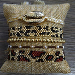Bracelets LÉOPARD de la COLLECTION SOLEDAD - 5 bracelets - bracelets - La boutique by c.