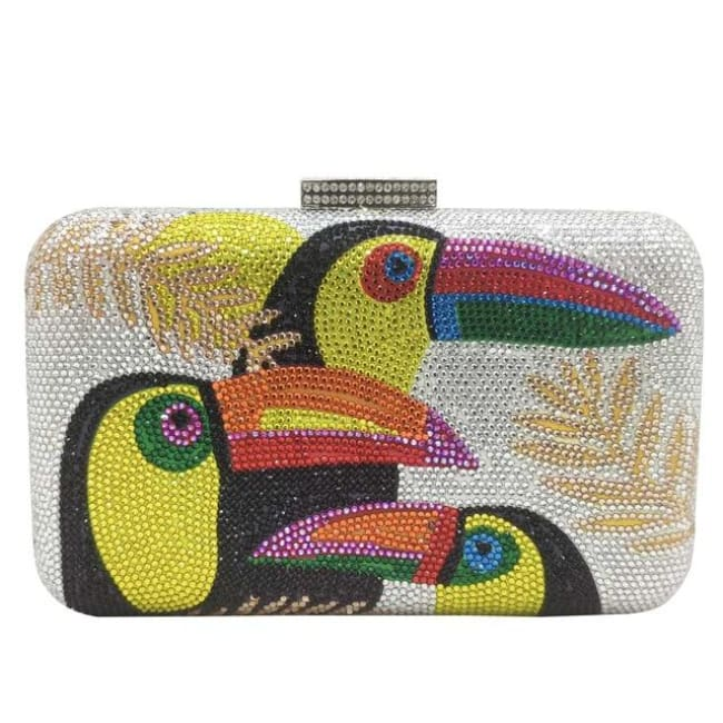 Clutch TOUCAN de la COLLECTION BCBG - argent - sacs - La boutique by c.