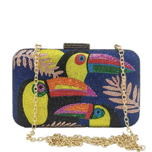 Clutch TOUCAN de la COLLECTION BCBG - bleu - sacs - La boutique by c.