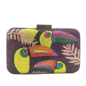 Clutch TOUCAN de la COLLECTION BCBG - pourpre - sacs - La boutique by c.