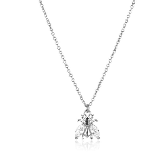Collier ABEILLE de la COLLECTION ADDICT - argent - colliers - La boutique by c.