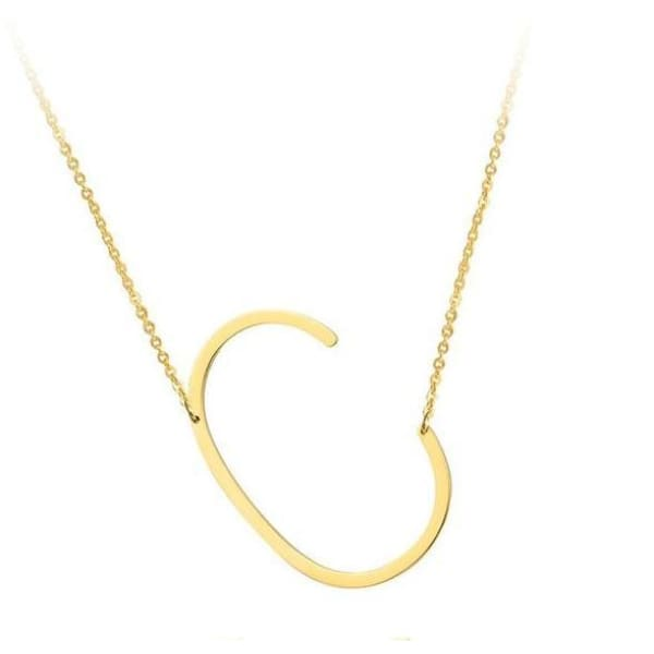 Collier Alphabet - C - Colliers - La Boutique By C.