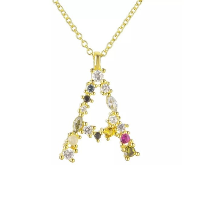 Collier ALPHABET de la COLLECTION ADDICT - A - colliers - La boutique by c.