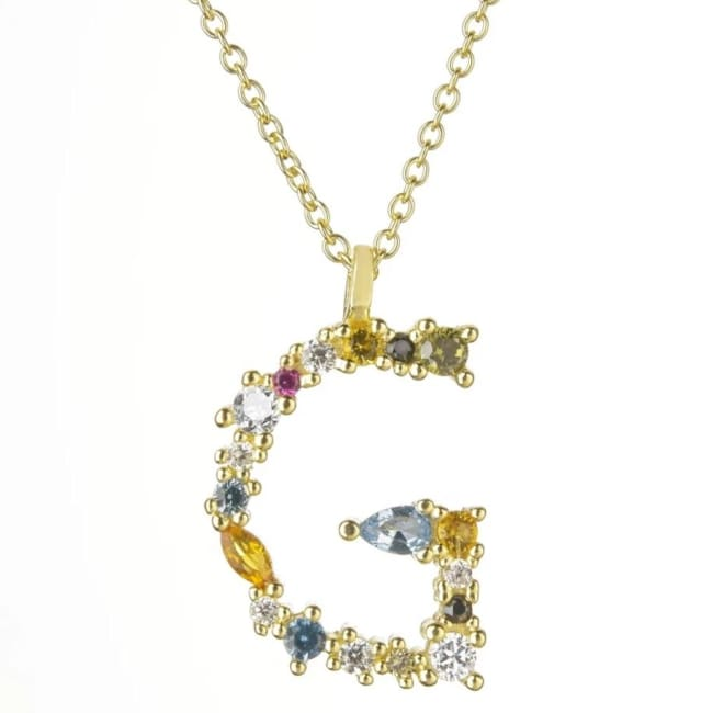 Collier ALPHABET de la COLLECTION ADDICT - G - colliers - La boutique by c.