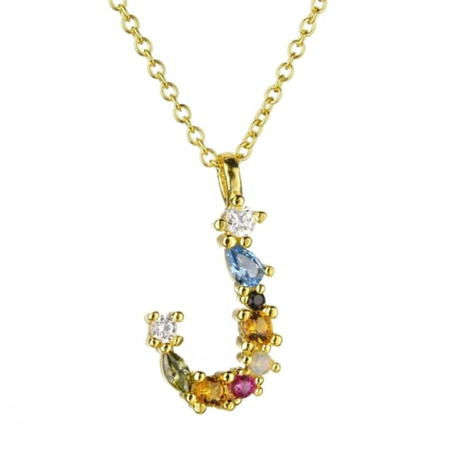 Collier ALPHABET de la COLLECTION ADDICT - J - colliers - La boutique by c.