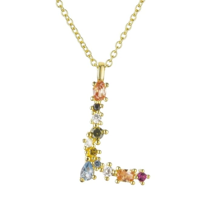 Collier ALPHABET de la COLLECTION ADDICT - L - colliers - La boutique by c.