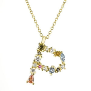 Collier ALPHABET de la COLLECTION ADDICT - P - colliers - La boutique by c.
