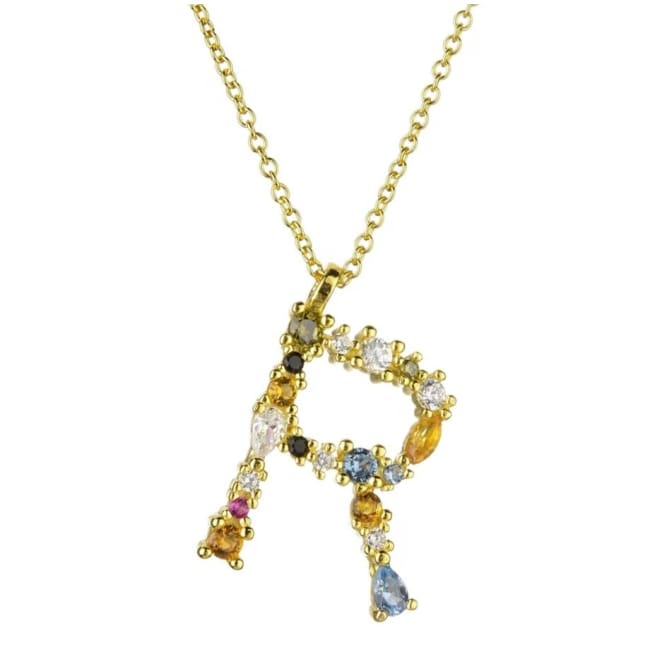 Collier ALPHABET de la COLLECTION ADDICT - R - colliers - La boutique by c.