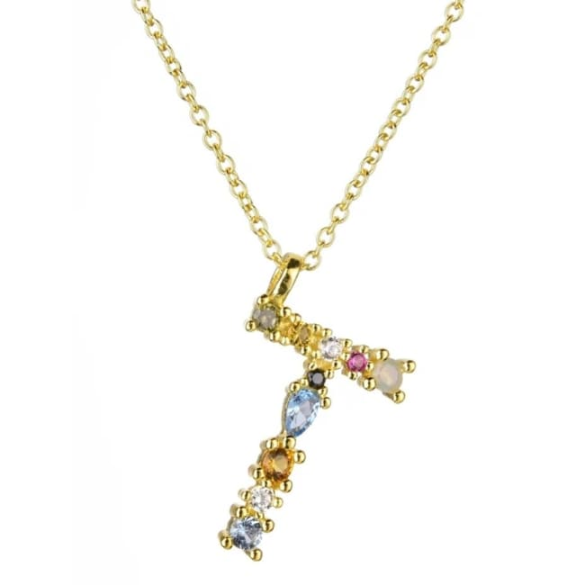 Collier ALPHABET de la COLLECTION ADDICT - T - colliers - La boutique by c.