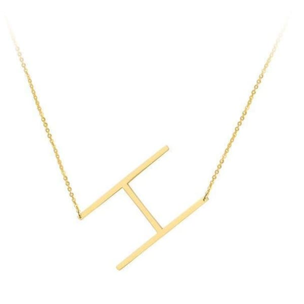 Collier Alphabet - H - Colliers - La Boutique By C.