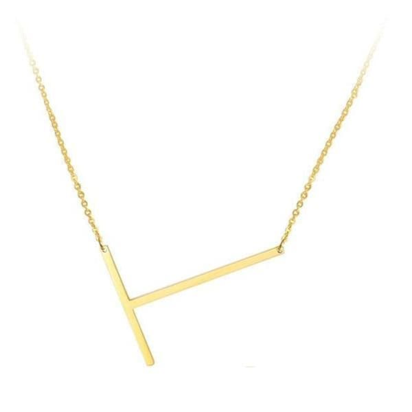 Collier Alphabet - T - Colliers - La Boutique By C.