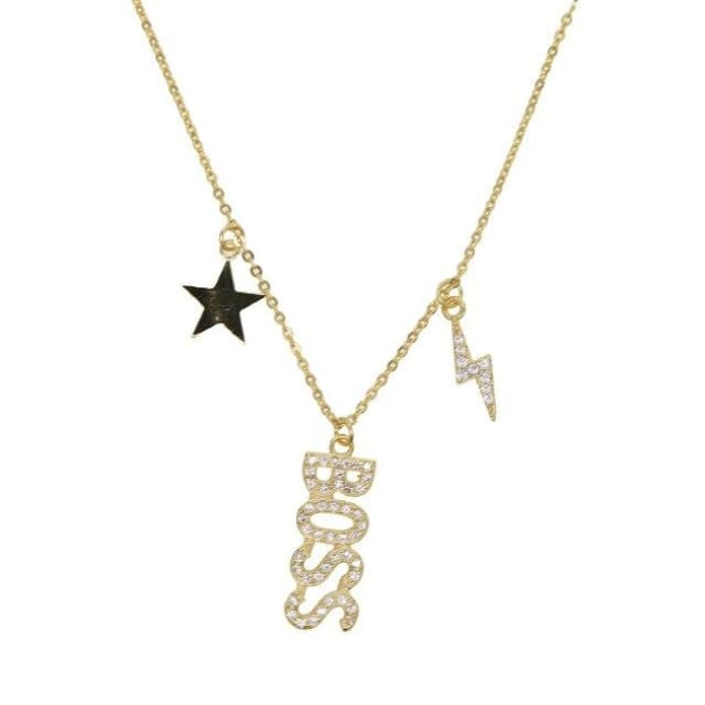 Collier BOSS de la COLLECTION B. COMME - doré - colliers - La boutique by c.