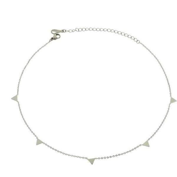 Collier Chamade - Argenté / Triangle - Bijoux - La Boutique By C.