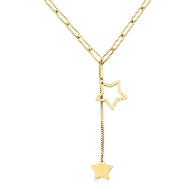 Collier DOUBLE ETOILE de la COLLECTION FOLIE DOUCE - colliers - La boutique by c.