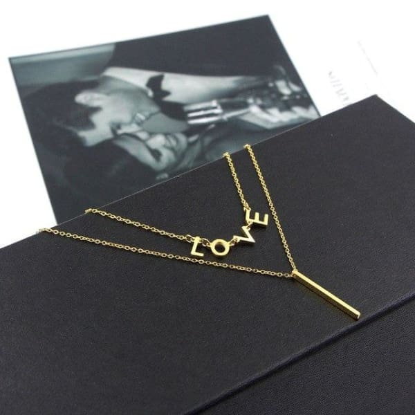 Collier Double Rang When I Love - Or - Bijoux - La Boutique By C.