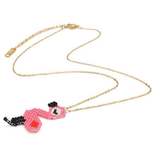 Collier FLAMANT ROSE de la COLLECTION HAPPY - colliers - La boutique by c.