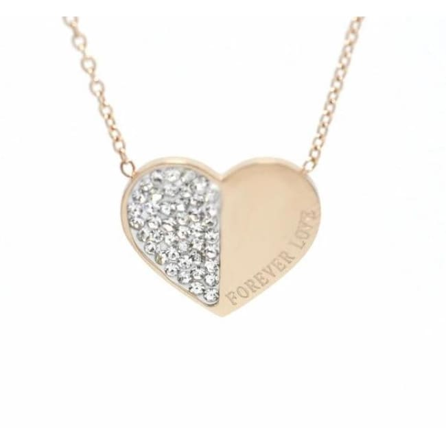 Collier FOREVER LOVE - rose doré - colliers - La boutique by c.