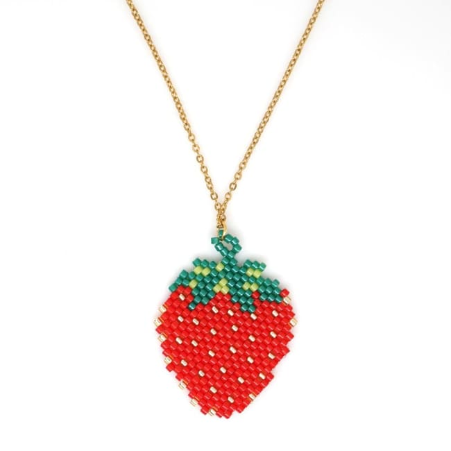 Collier FRAISE de la COLLECTION HAPPY - colliers - La boutique by c.