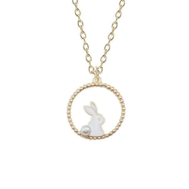 Collier LAPIN de la COLLECTION MIOCHE - blanc - colliers - La boutique by c.