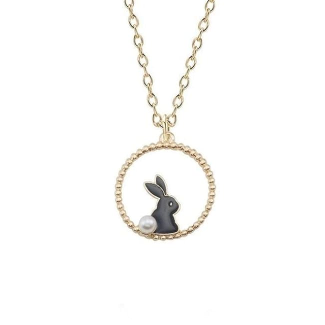 Collier LAPIN de la COLLECTION MIOCHE - noir - colliers - La boutique by c.