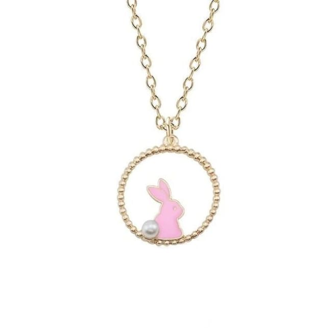 Collier LAPIN de la COLLECTION MIOCHE - rose - colliers - La boutique by c.