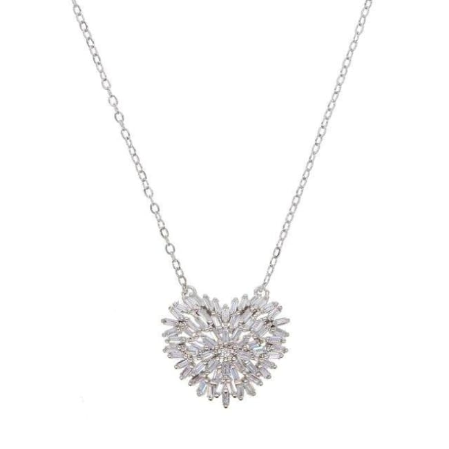 Collier LOVE HEART de la COLLECTION MADAME GIRLY - argenté - colliers - La boutique by c.