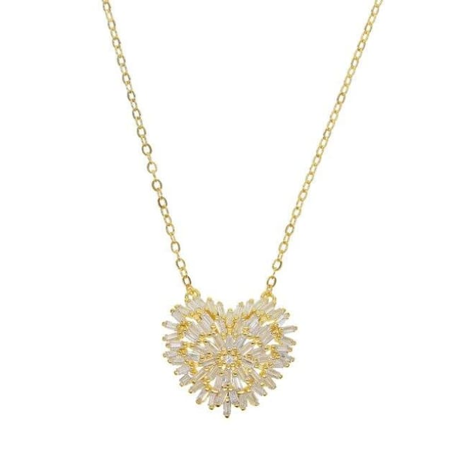 Collier LOVE HEART de la COLLECTION MADAME GIRLY - doré - colliers - La boutique by c.